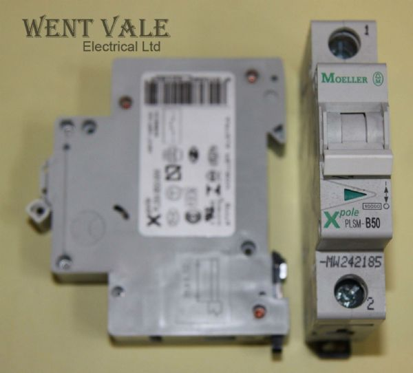 Moeller X Pole - PLSM-B50-MW - 50a Type B Single Pole MCB New